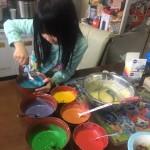 レインボーケーキ作り4