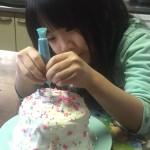 レインボーケーキ作り9