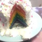 レインボーケーキ作り11