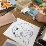 似顔絵アーティストMEGのペット似顔絵教室