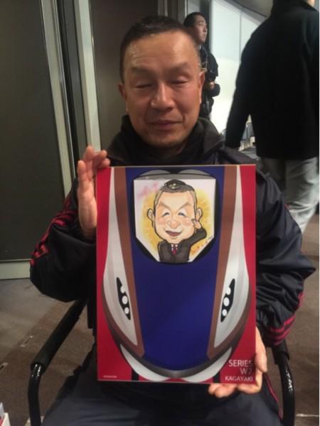 電車のニガオエ 似顔絵アーティストMEG